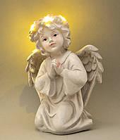 """Светящиеся статуэтки """"Молящийся ангел"""" 16.5*12*9 см (полистоун)"""