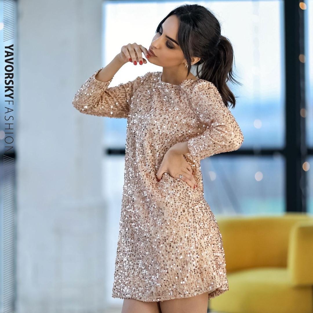 Женское нарядное платье с пайетками «Франческа»
