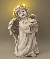 """Светящаяся статуэтка """"Ангел с голубем"""" 25.5*16*11,5 см (полистоун)"""