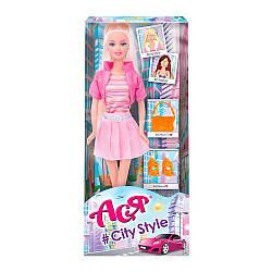 """Кукла Ася """"Стиль большого города""""блондинка,  в кор.  //"""