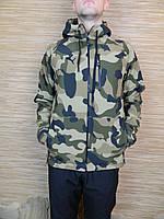 Куртка,ветровка штормовая ,зимнияя,плащевка с начесом Soft-Shell,камуфляж,50-52-54-56