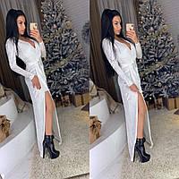 Платье женское, стильное, праздничное, белое, 505-027