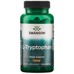 Swanson Premium L-Tryptophan триптофан аминокислота для здорового сна 60 капс