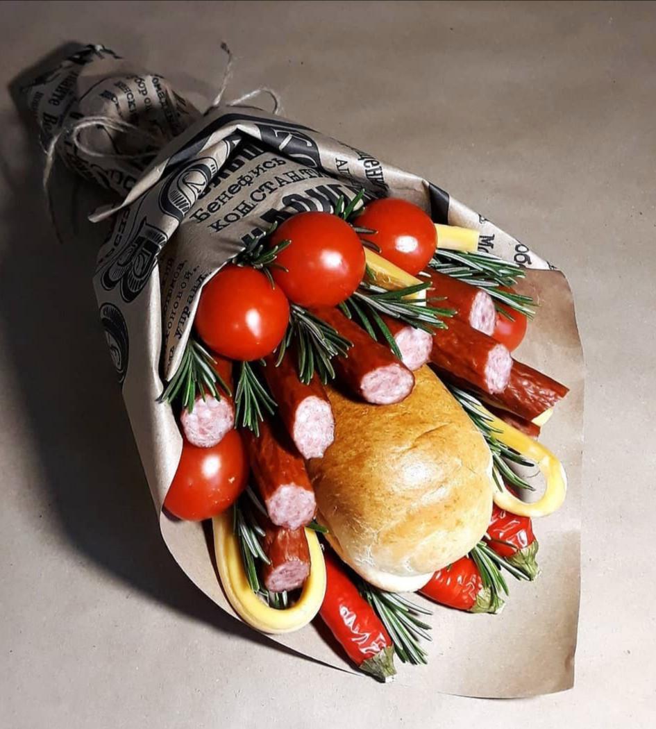Чоловічий букет їстівний смачний вітальний подарунковий безалкогольний Баггі