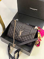 Модная сумочка Yves Saint Laurent натуральная кожа (реплика), фото 1