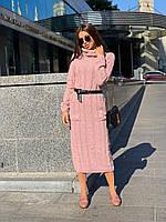 Платье-гольф женское, стильное, теплое, НОВИНКА,505-032