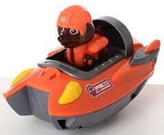Фигурка игрушка щенок Зума с транспортом из мультфильма Щенячий патруль 7 см.