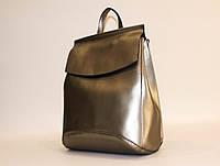 Женский кожаный городской рюкзак-сумка повседневный классический   #1608VT