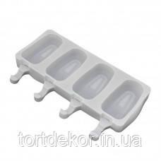 Силиконовая форма для мороженого Эскимо 4шт