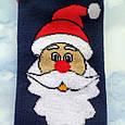 Шкарпетки жіночі новорічні махра сині розмір 36-41, фото 3