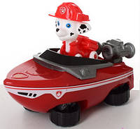 Фигурка игрушка щенок Маршал с транспортом из мультфильма Щенячий патруль 7 см.