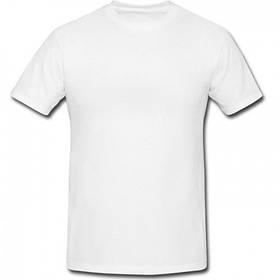 Футболка мужская размер M для сублимации белая ДЖЕРСИ