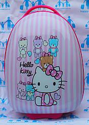Чемоданы дорожные пластиковые детские ручная кладь 42 см Josepf Ottenn Китти 1667 розовые