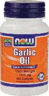 Масло Чеснока, Now Foods, Garlic Oil, 1500 mg, 100 Softgels