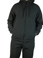 Куртка,ветровка штормовая ,зимнияя,плащевка с начесом Soft-Shell,чорна,оливка,50-52-54-56