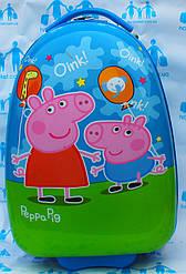 Овальные чемоданы для детей стандарт 2 колеса- 42 см  Josepf Ottenn Свинка пеппа синий 1656