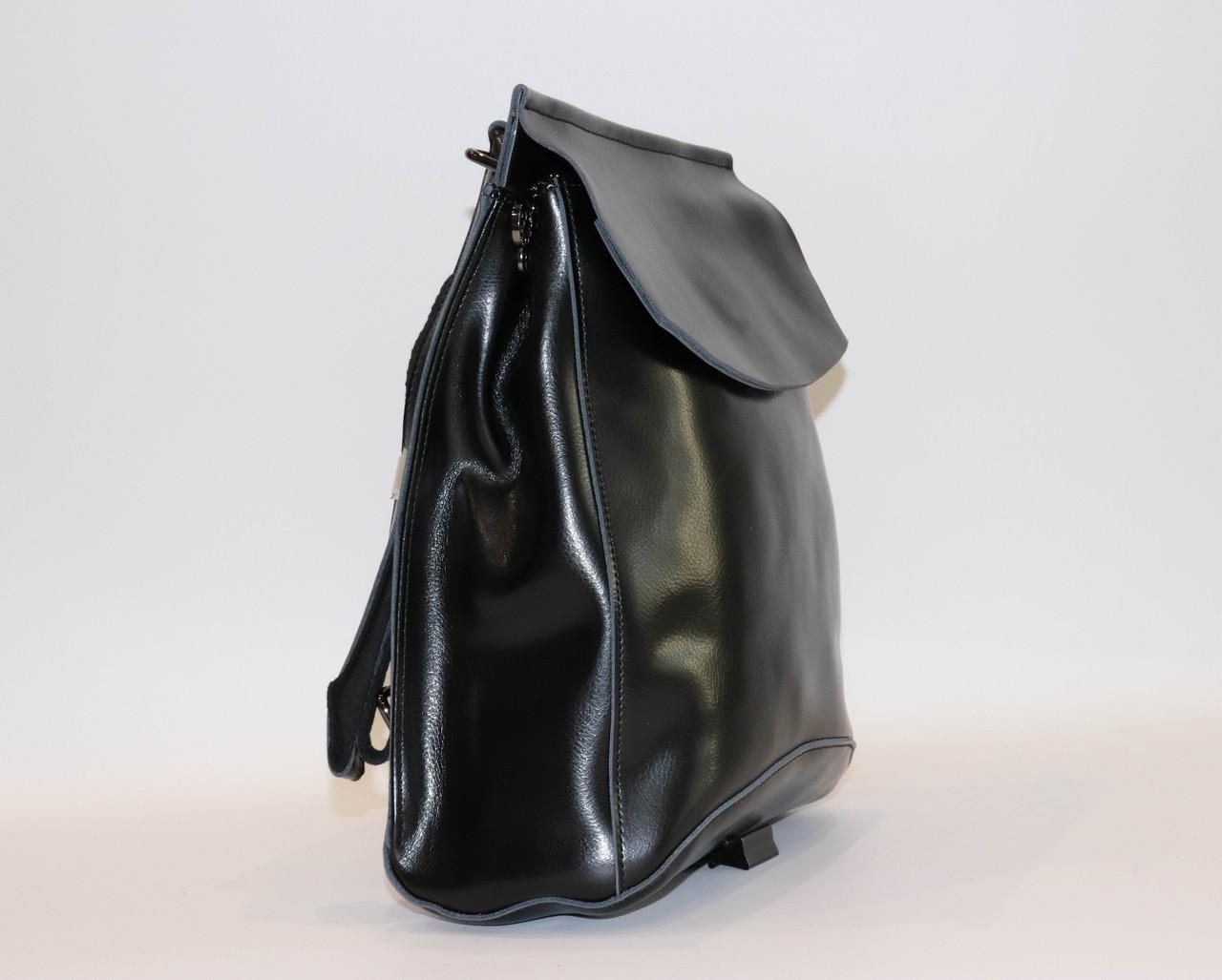 Женский черный классический рюкзак   1608VT Black, фото 2