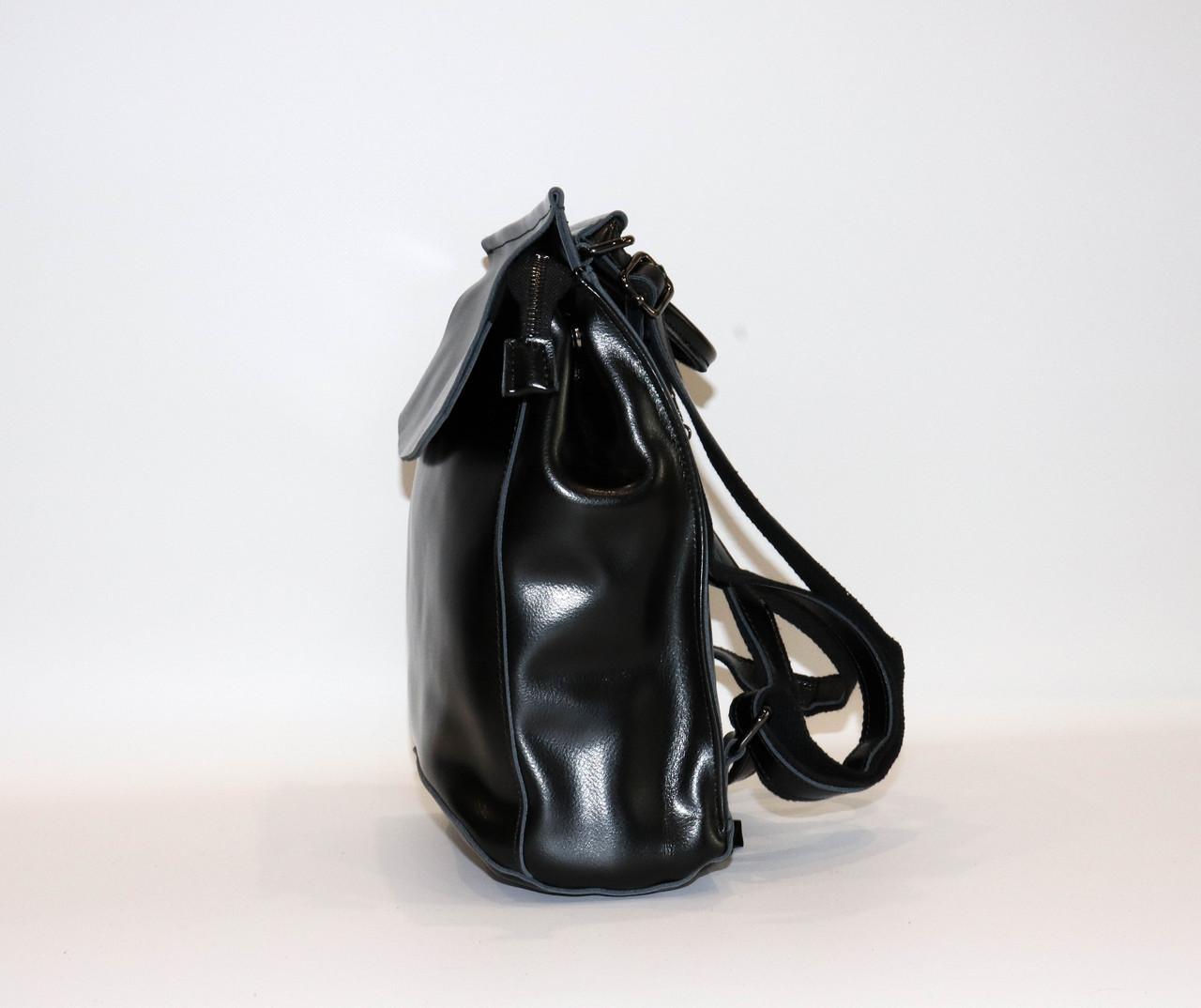 Женский черный классический рюкзак   1608VT Black, фото 3