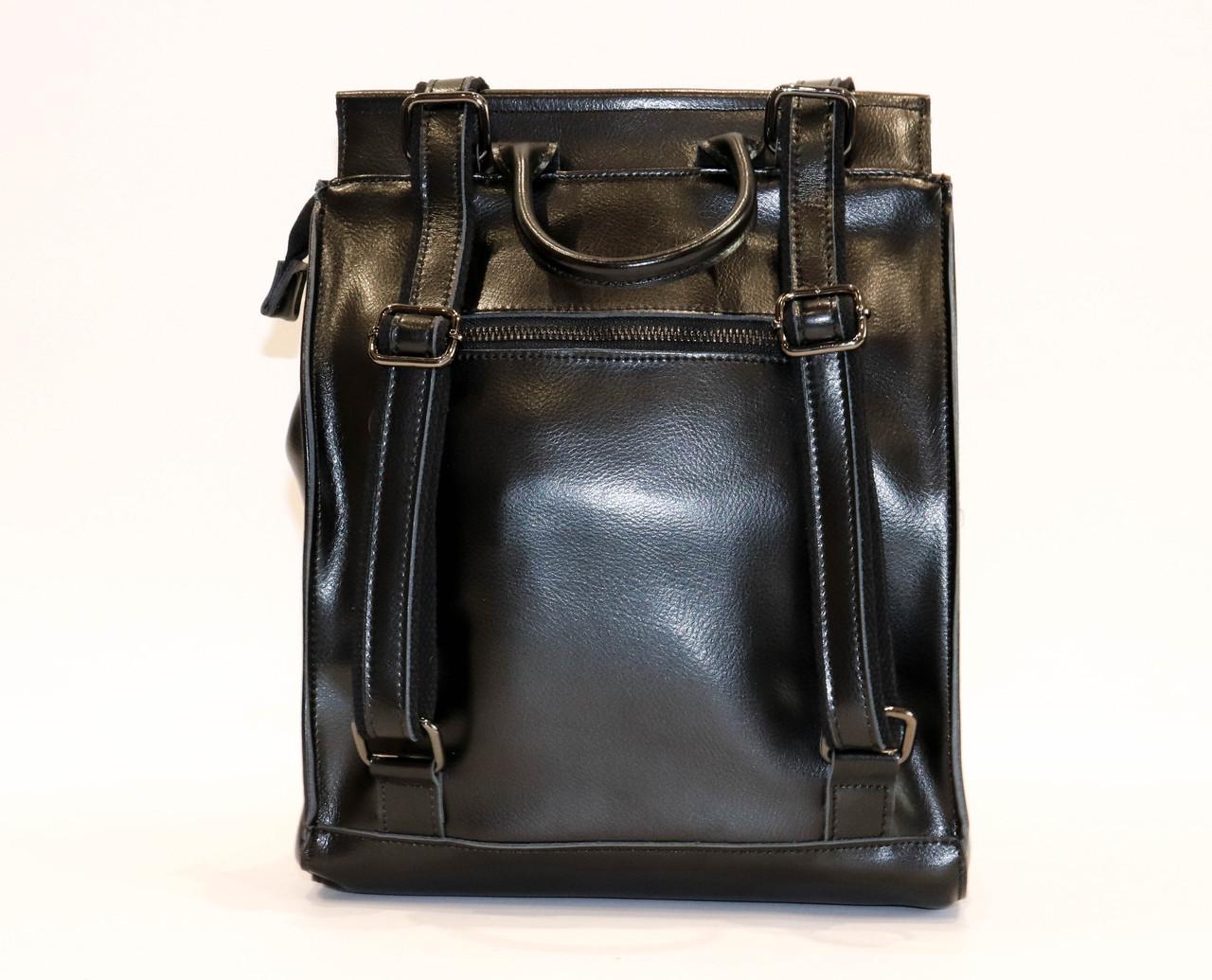 Женский черный классический рюкзак   1608VT Black, фото 5