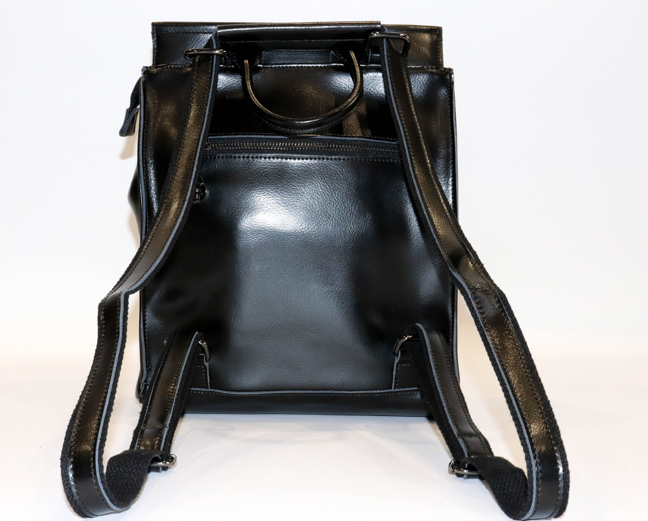 Женский черный классический рюкзак   1608VT Black, фото 6