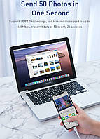 Кабель быстрой зарядки Baseus 3A for Iphone White, длина - 100 см. (CALSW-B02), фото 5