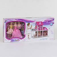 Домик кукольный 66883, 2 этажа, 3 куклы