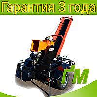 Измельчитель веток 2В-120ДКЛ с конвейерной лентой 2м на прицепе (Дизель 14л.с), фото 1