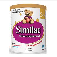 Детская сухая молочная смесь Similac Гипоаллергенный 2, 400г