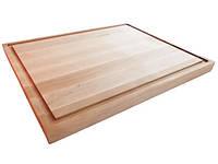 Доска кухонная Mazhura Alder прямоугольная с выемкой 37х29 см h2,4 см (323048mz)