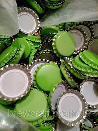 Крышки пивные зеленые. Кроненпробки 100 шт 26 мм, фото 2