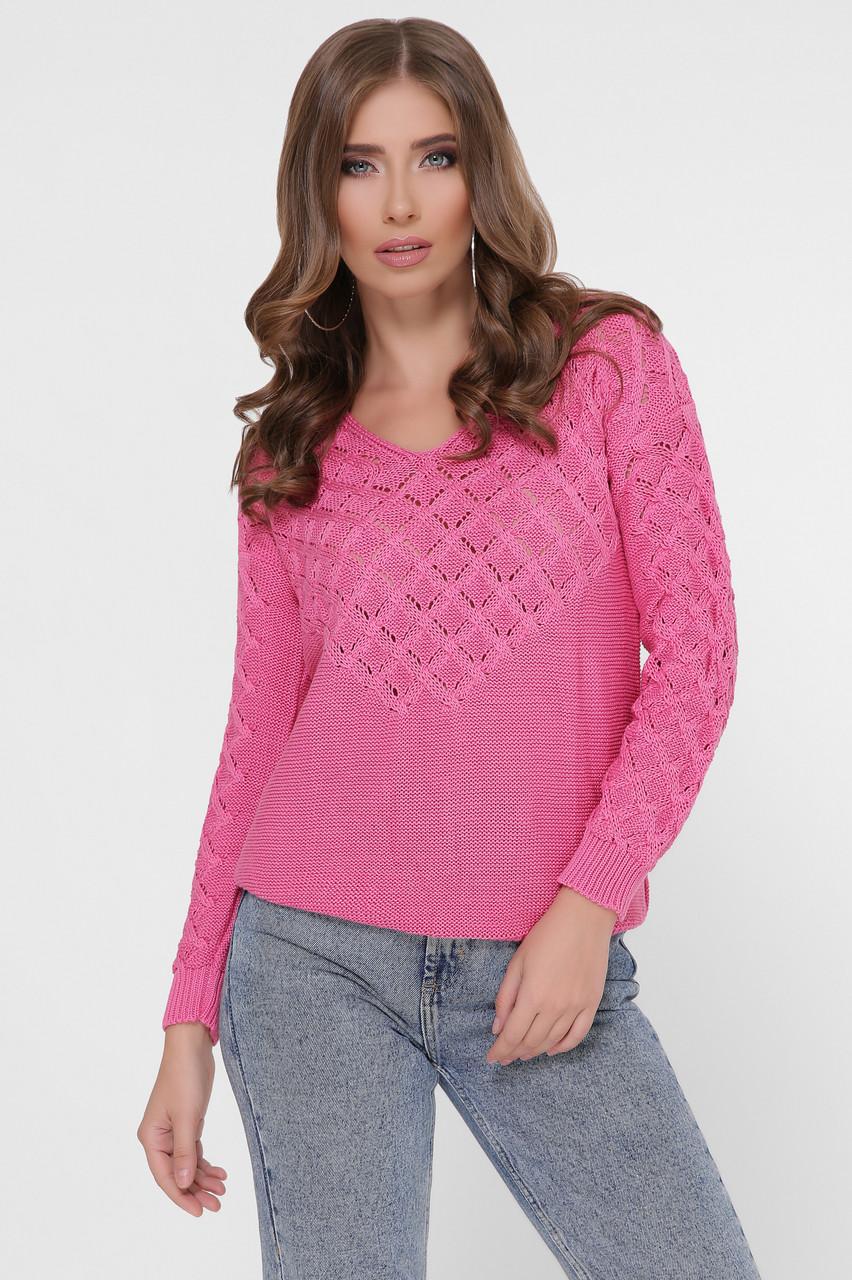 Вязаный женский свитер Мамея из хлопка