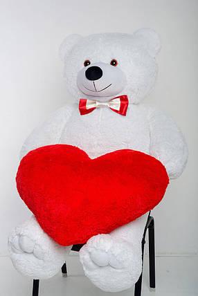 Мишка с сердцем Mister Medved Белый 2 метра, фото 2