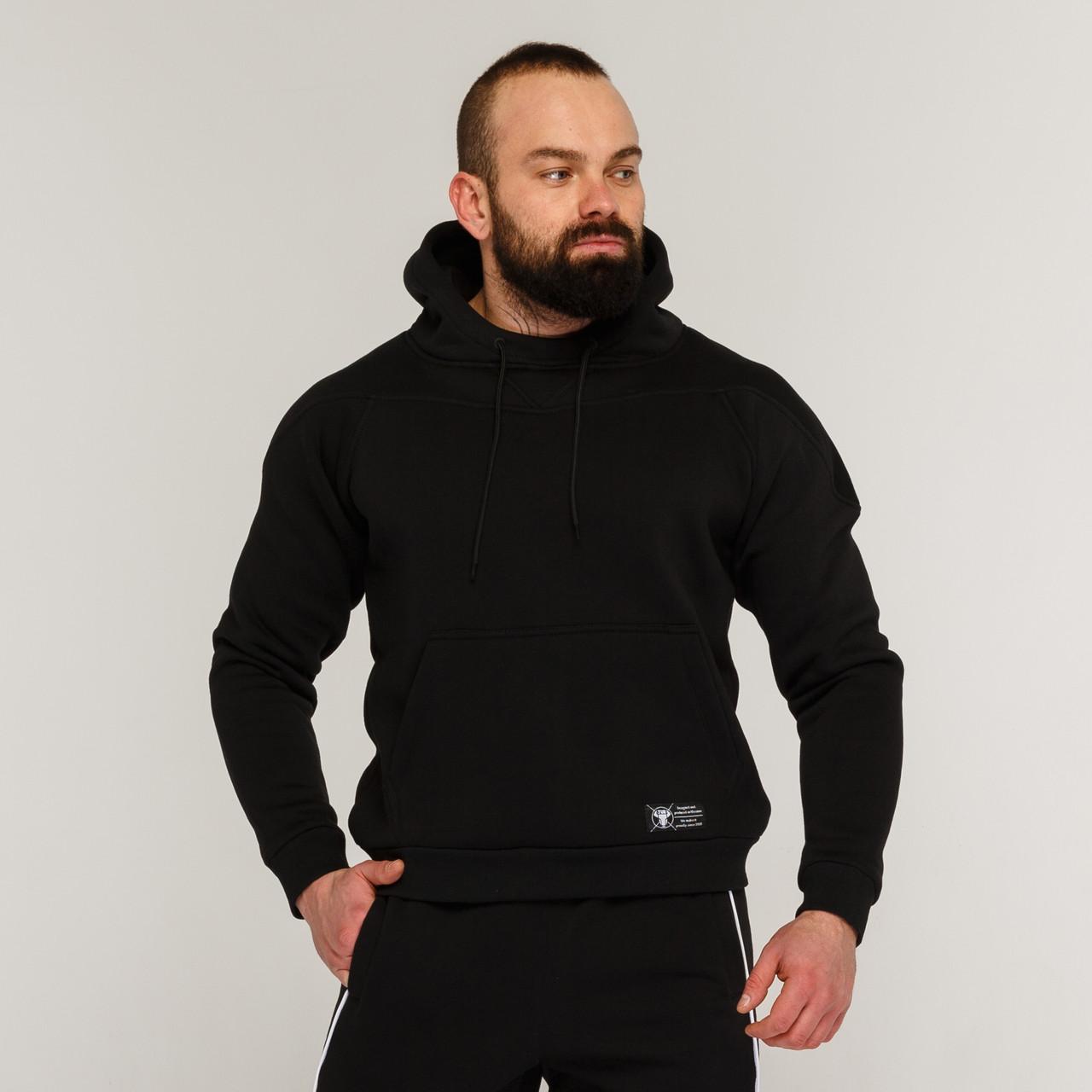 Худи мужской утепленный черный от бренда ТУР модель Ракета