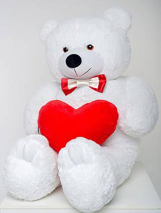 Мишка с сердцем Mister Medved Белый 160 см, фото 2