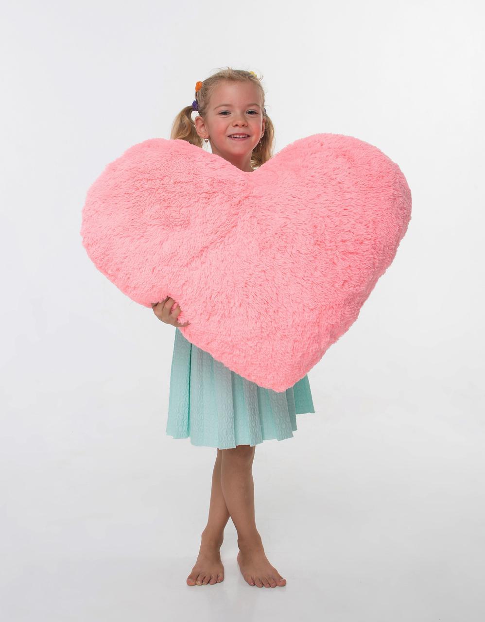 Плюшевая игрушка Mister Medved Подушка-сердце Розовая 75 см
