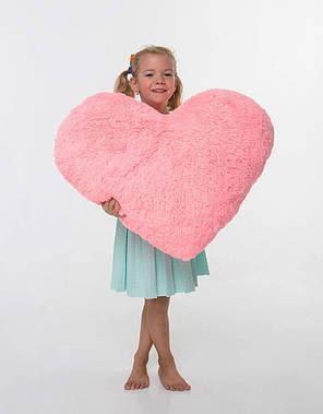 Плюшевая игрушка Mister Medved Подушка-сердце Розовая 75 см, фото 2