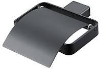 Тримач для туалетного паперу з поличкою ASIGNATURA 85605802 Чорний матовий