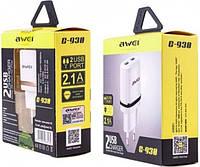 Зарядное устройство 220В USBx2 AWEI C-930