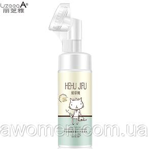 Очищающий мусс-пенка Lizeeaa  Hyaluronic Faom c гиалуроновой кислотой и ромашкой (с щеточкой ) 120 мл