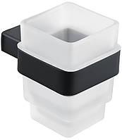 Стакан для зубних щіток 85601802 чорний матовий ASIGNATURA, фото 1