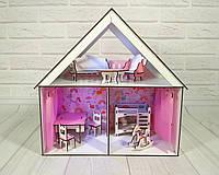 Дом для кукол лол Little Fun с мебелью и текстилем ( 8 шт мебели)