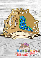 """Подсвечник под вышивку """"Голубые цветы"""" (51003)"""
