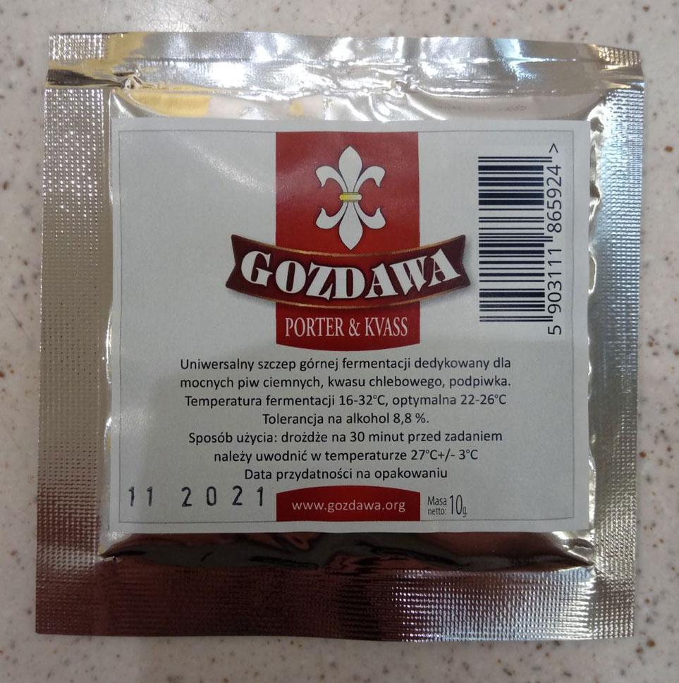 Пивные дрожжи Gozdawa Porter & Kvass
