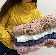 Теплые вязаные свитерочи (ONE-SIZE)