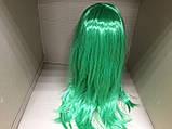Парик длинный прямой изумрудный зеленый 56 см, фото 3