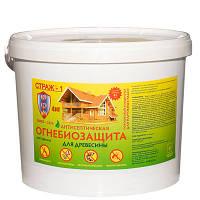 Огнебиозащита для дерева СТРАЖ-1, порошковый концентрат, ведро 1 кг