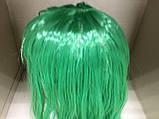 Парик длинный прямой изумрудный зеленый 56 см, фото 4