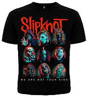 """Футболка Slipknot """"We Are Not Your King"""" (masks)"""