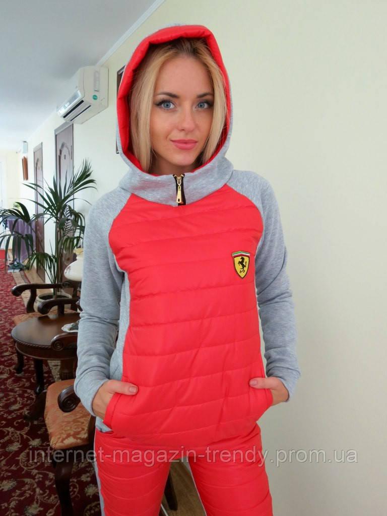 Костюм утепленный с капюшоном Ferrari(4 цвета)108