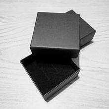 Подарочная коробочка картонная 70×70×35 мм черная